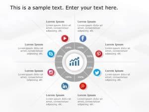 Social Media Market Share PowerPoint Template 4