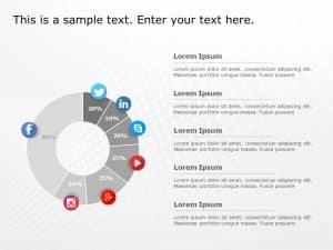 Social Media Market Share PowerPoint Template 5