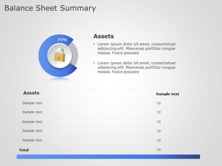 balance sheet summary powerpoint template 2