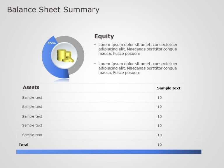 balance sheet summary powerpoint template 4