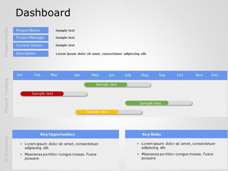 Project Dashboard PowerPoint 1