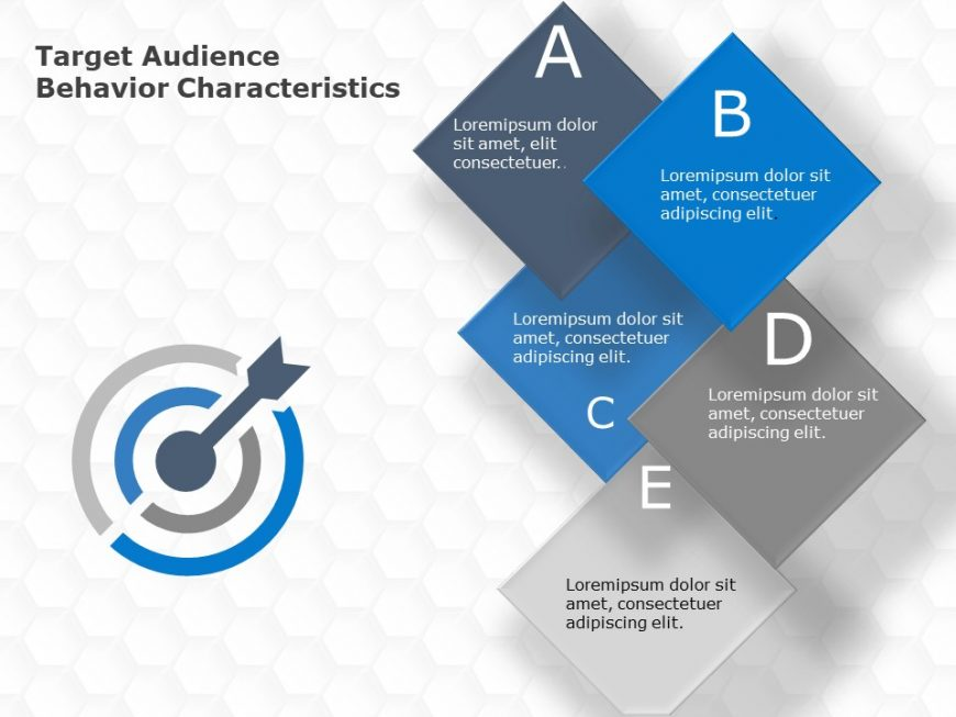 Target Audience Behaviour Characteristics PowerPoint Template