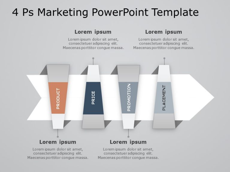 4Ps Marketing PowerPoint Template 9