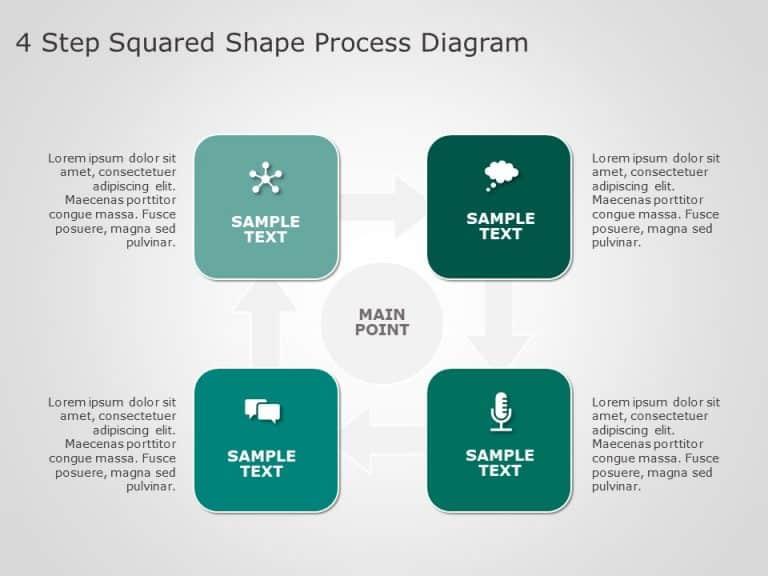 4 Step Squared Shape Process Diagram