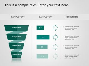 4 Steps Funnel PowerPoint Template