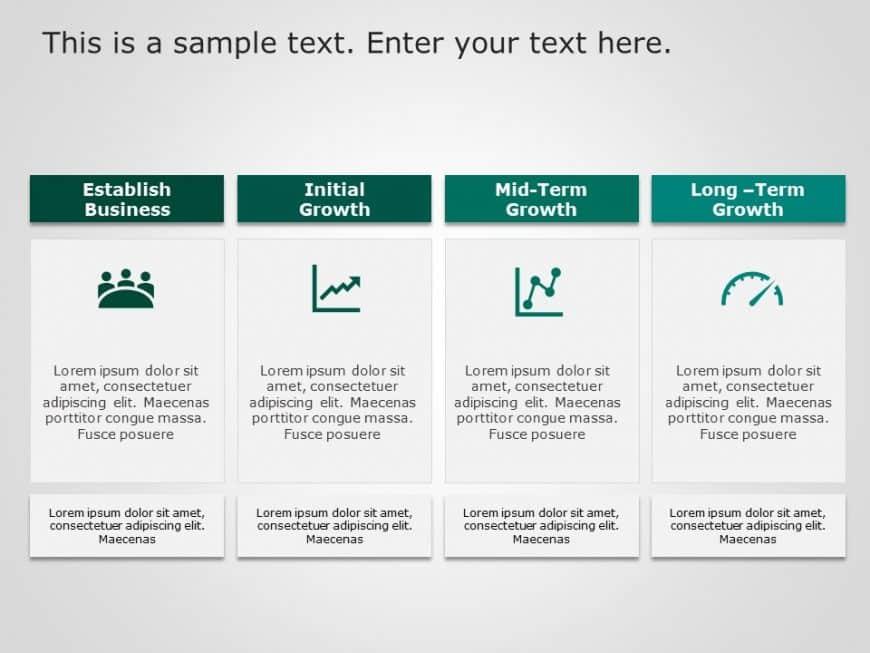4 Steps Business Development PowerPoint Template