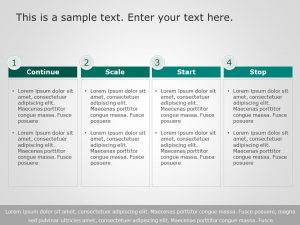 4 Steps Business Steps PowerPoint Template 1