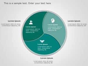 3 Part Circular Powerpoint Template