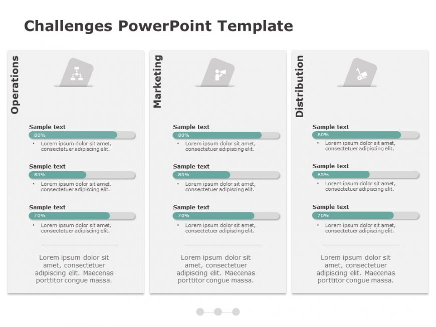Task Completion Status Powerpoint Template