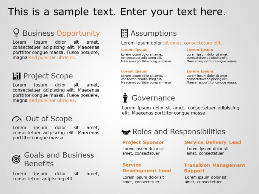Project Charter Summary Template