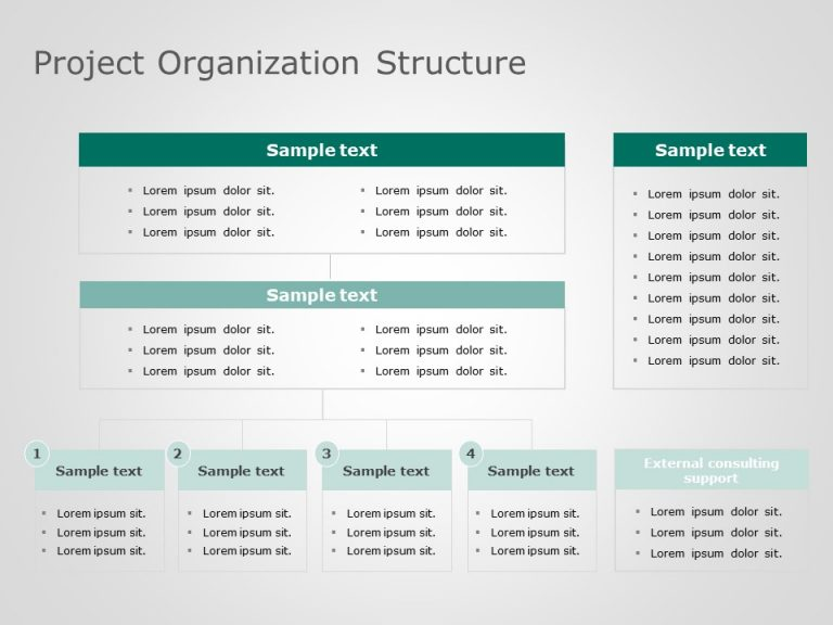Project Organization Structure Powerpoint Template