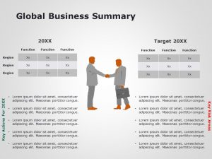 Global Business Summary Powerpoint Template