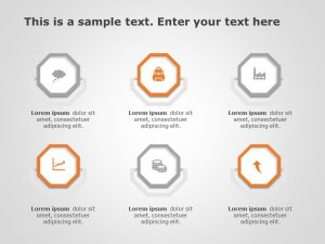 6 Steps Product Features PowerPoint