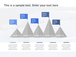 Comparison Pyramid Diagram Powerpoint Template