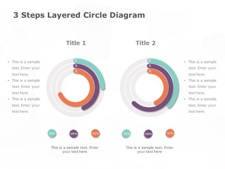 3 Steps Layered Circular Diagram Template