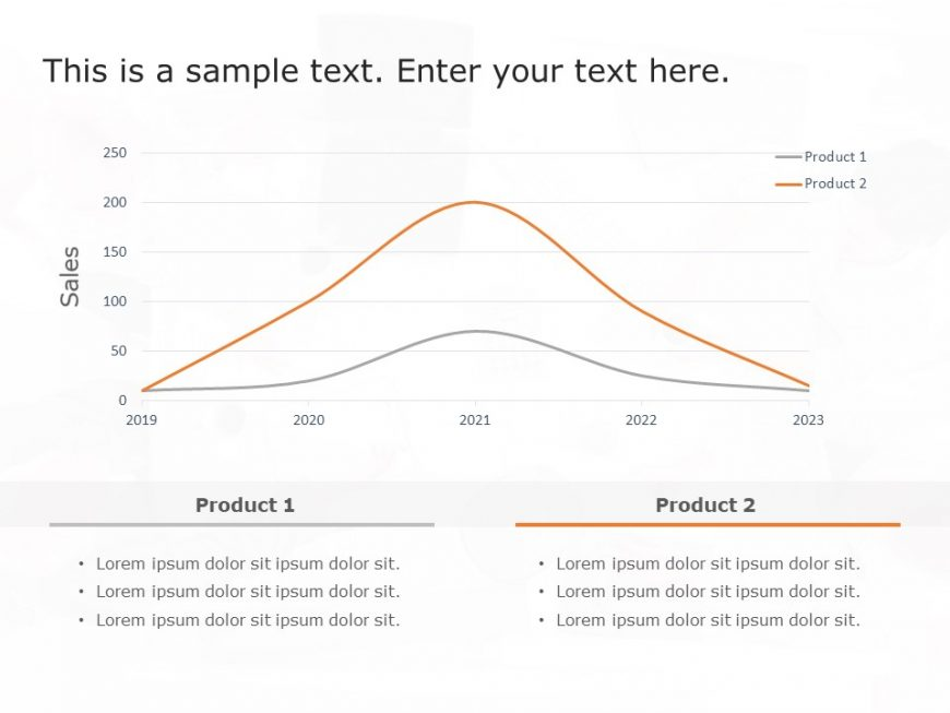 Bell Curve comparison graph for PowerPoint