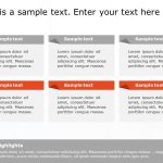 6 Grid Text Box Diagram For Powerpoint