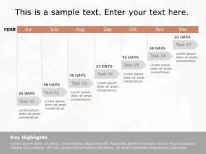 Gantt Chart PowerPoint Template 4