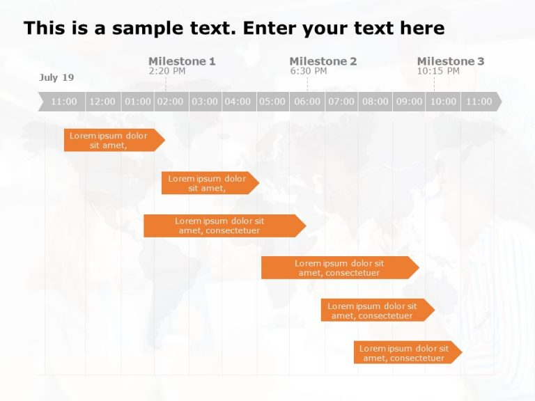 Gantt Chart PowerPoint Template 6