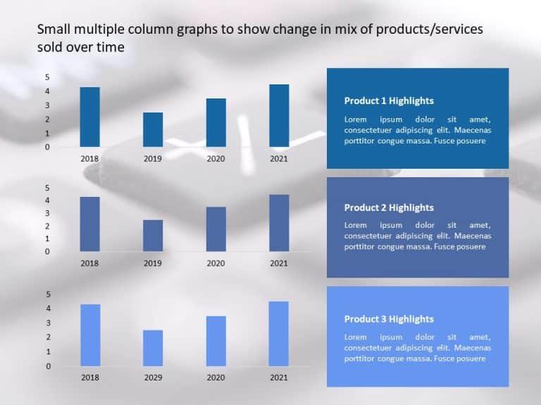 Multiple Column Graph Powerpoint Template