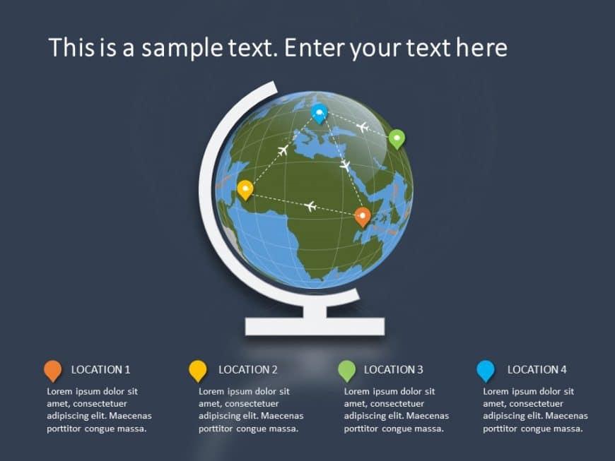 Globe Summary Powerpoint Template 1
