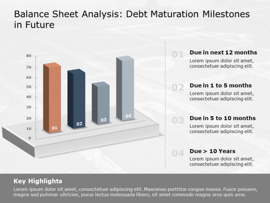 Debt maturation PowerPoint Graph 1