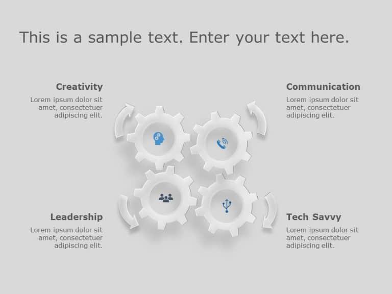 Gears PowerPoint Template 6