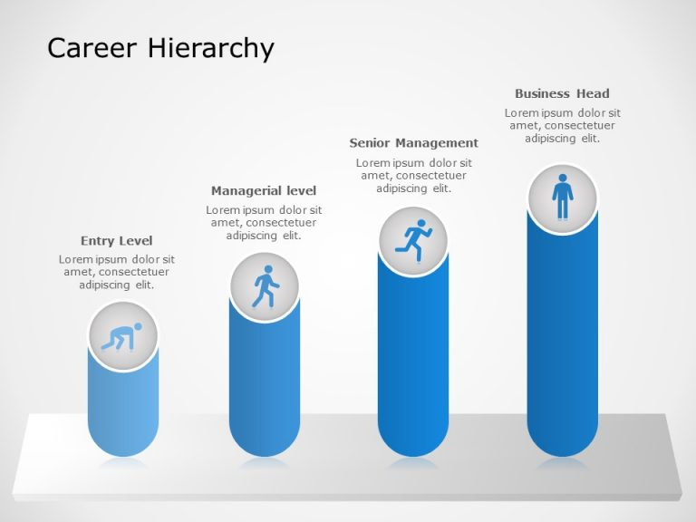 Career hierarchy powerpoint template 1