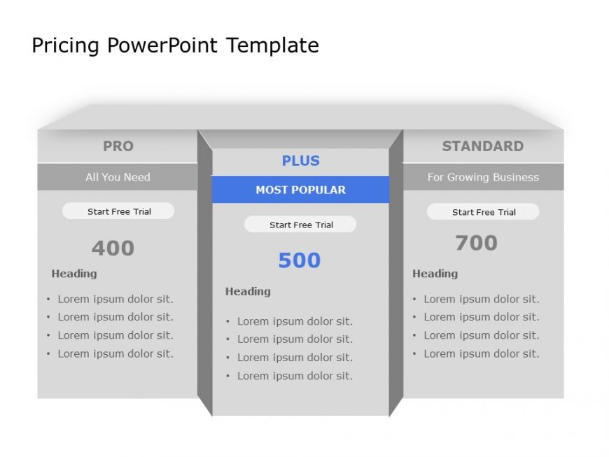 Pricing PowerPoint Template 3