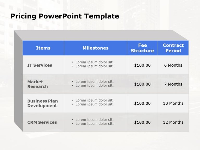 Pricing PowerPoint Template 5