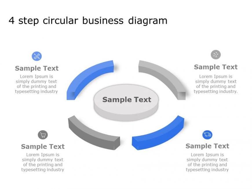 4 Step Circular Business Diagram