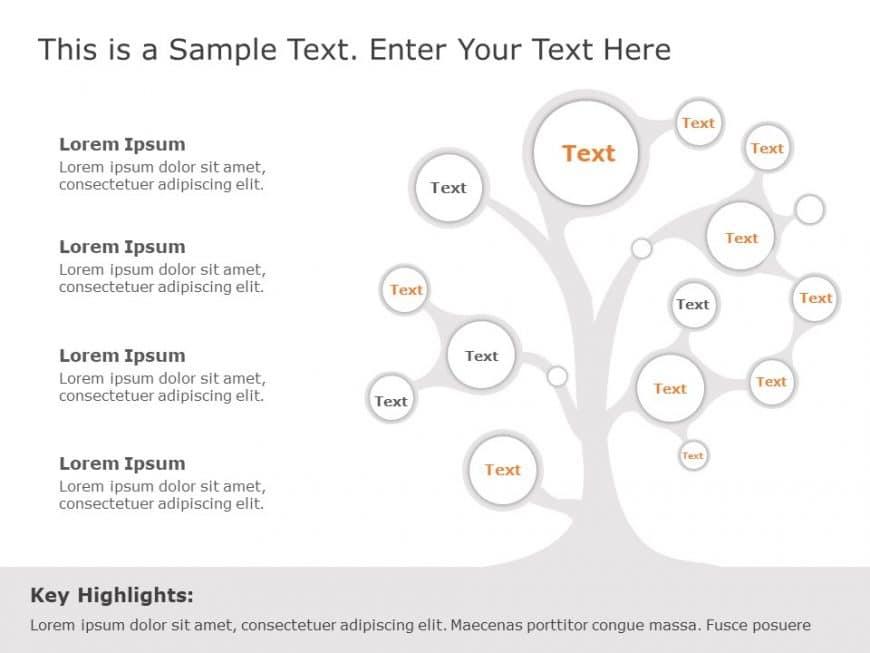 Nodal Tree Diagram Template