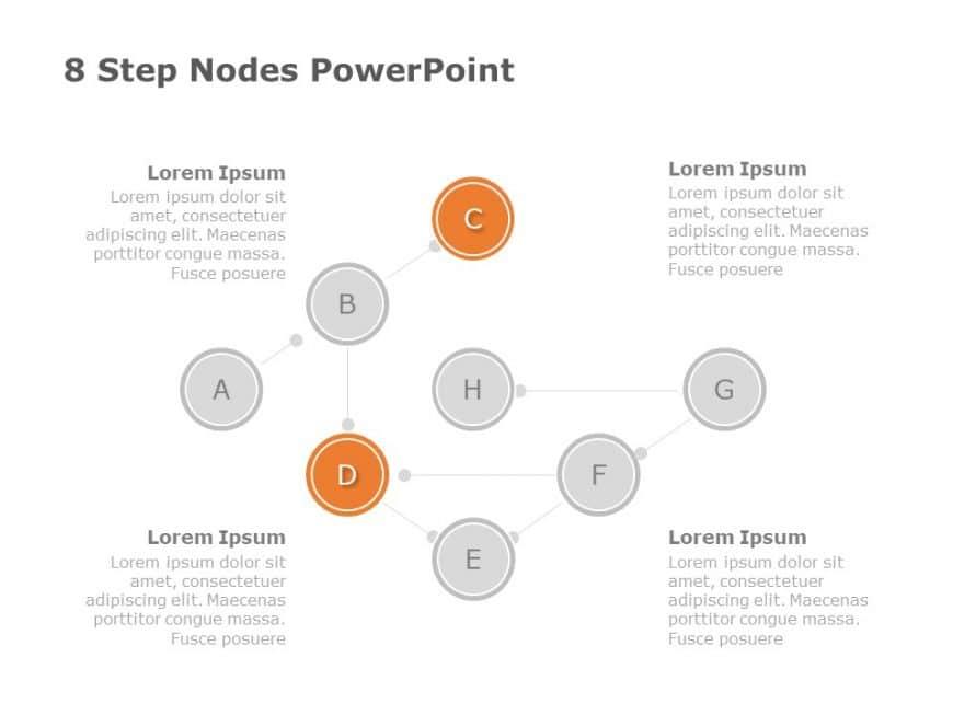 8 Step Nodes Powerpoint Diagram