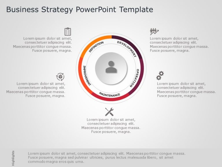 Business Strategy PowerPoint Template 34