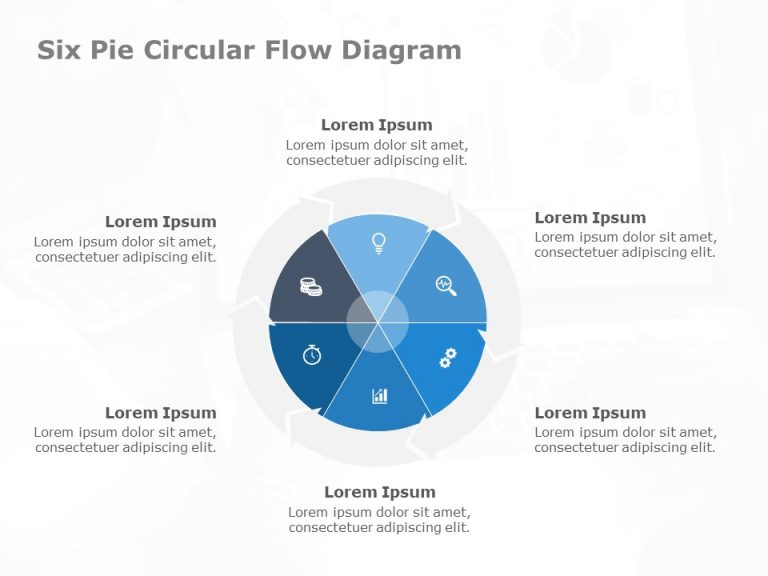 Six Pie Circular Process Flow Diagram