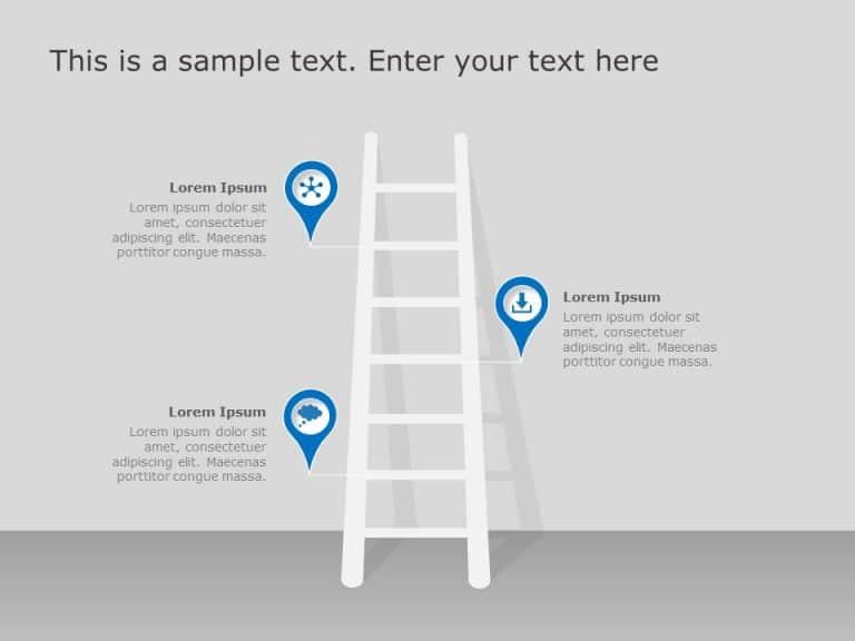 Ladder Roadmap PowerPoint Template