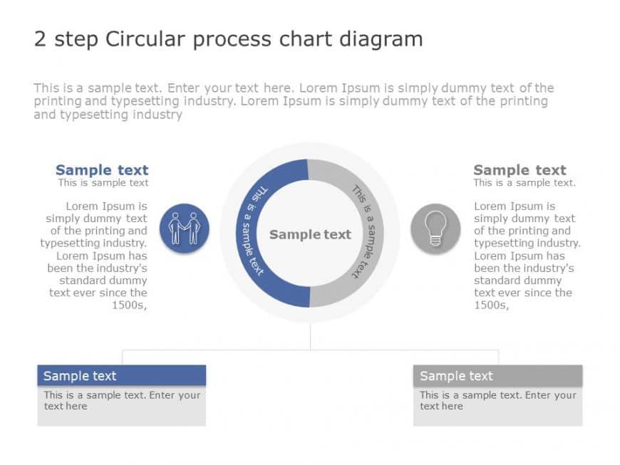 2 Step Circular Process Chart Diagram