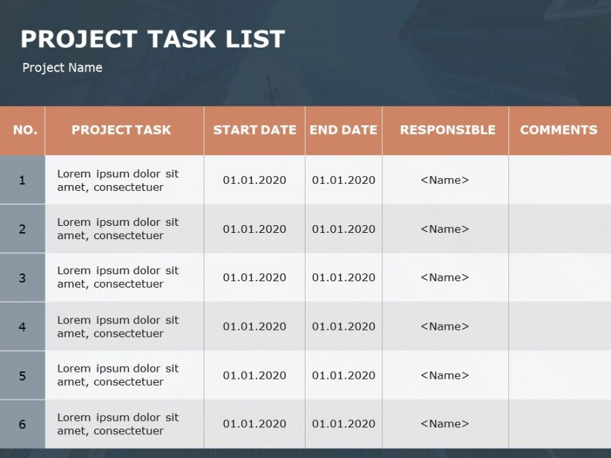 Project Task Tracker PowerPoint Template 1