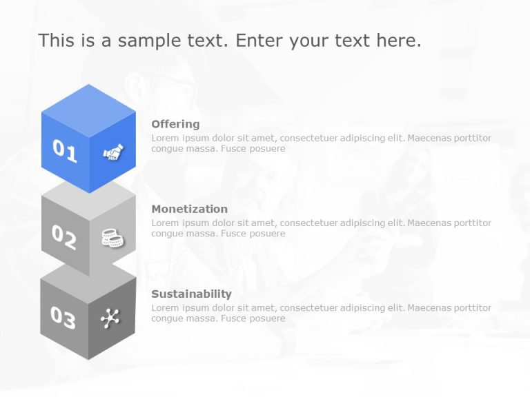 3 Steps Business Model PowerPoint Template 1