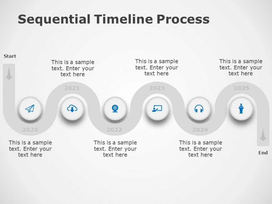 Free Sequential Timeline Process Diagram 2