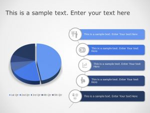 Business Performance Pie Chart Powerpoint Template