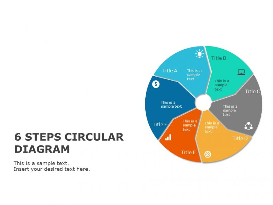 6 Step Business Objective Circular Powerpoint Template