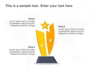 Sales Target Achievement Award Powerpoint Template