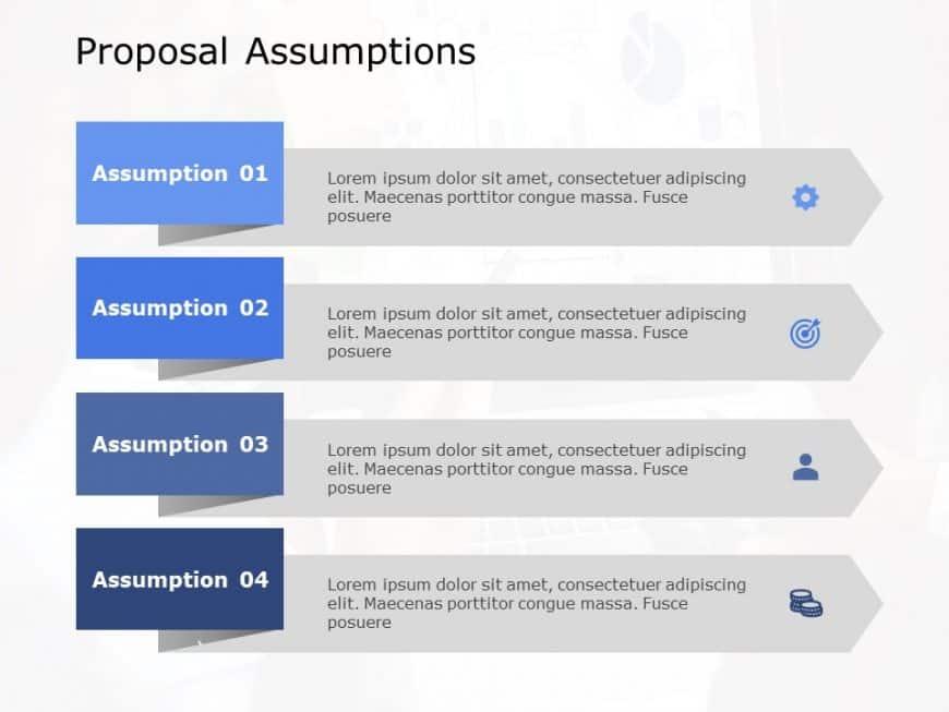 Proposal Assumptions Powerpoint Template