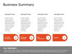 Business Summary Powerpoint Template
