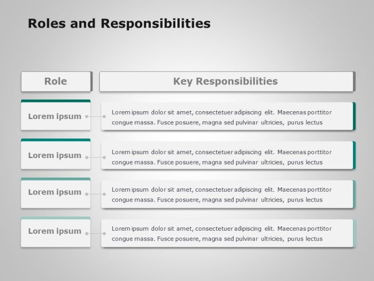 Roles And Responsibilities Powerpoint Template 2
