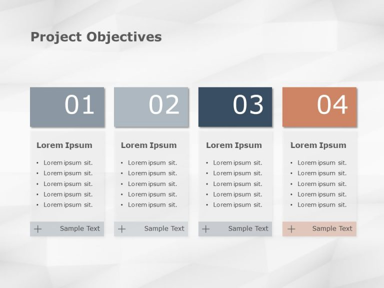 Project Objectives Powerpoint Template