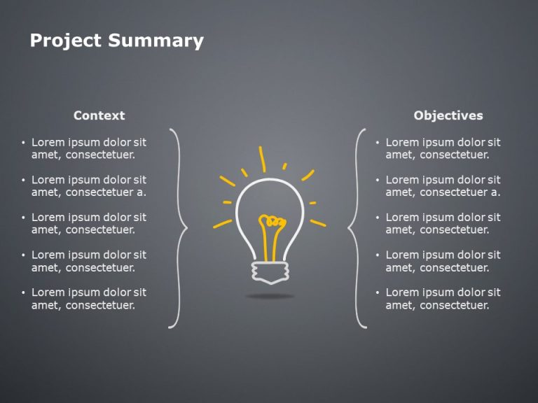 Project Summary Powerpoint Template 3