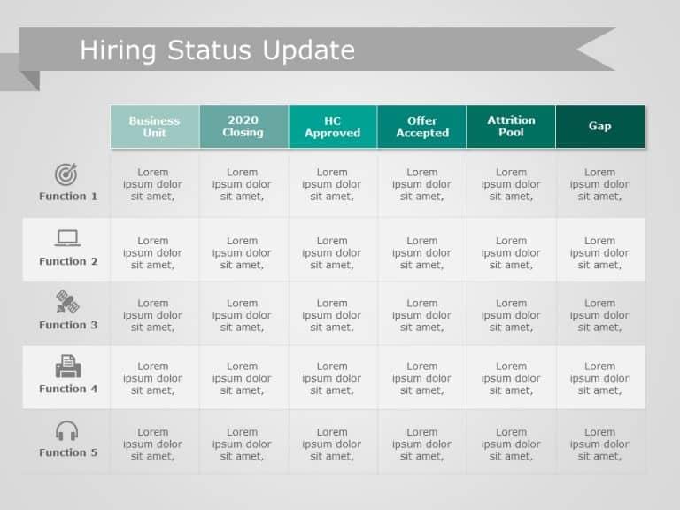 Hiring Status Update Powerpoint Template