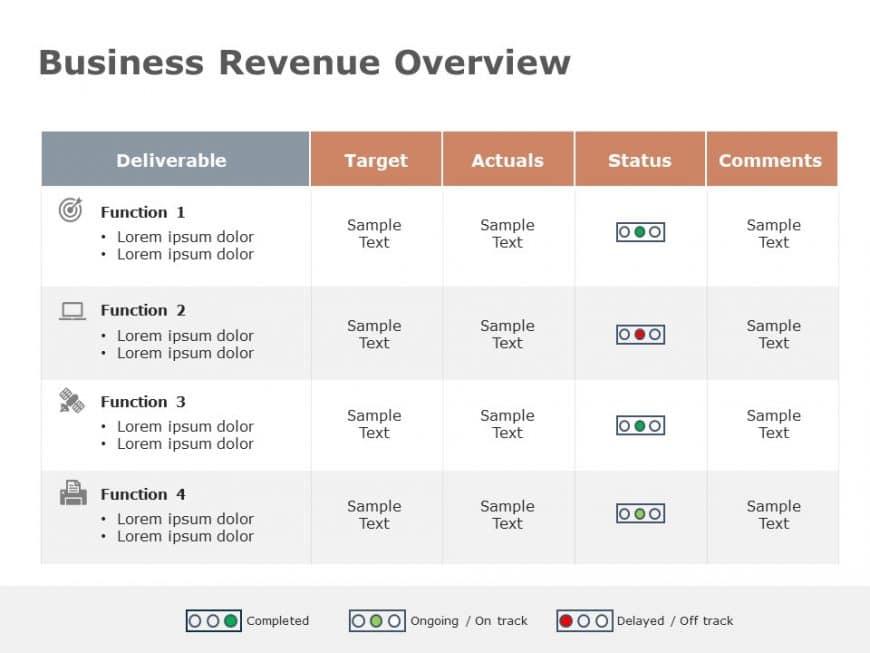 Business Status Update Powerpoint Template 1